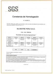 Certificado de Homologación -  Silvestre